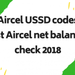 Aircel USSD codes lists updated in 2020